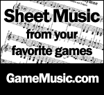 sheet music from your favorite games